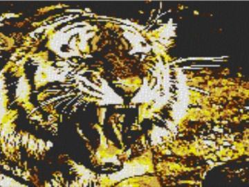 Vorlage für Ministeck Tiger 80x60cm yellow Style per eMail