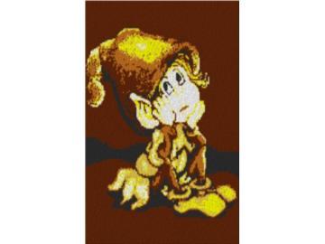 Vorlage für Ministeck kleines Männchen 60x80cm yellow Style als Entwurfdruck
