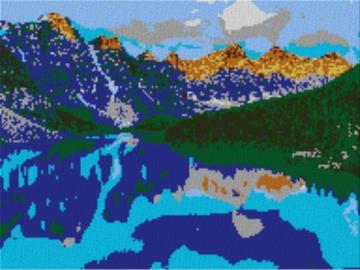 Vorlage für Ministeck Alberta 80x60cm cartoon Syle als Volldruck