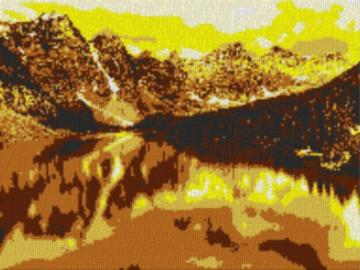 Vorlage für Ministeck Alberta 80x60cm yellow Style als Volldruck