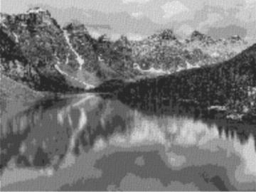 Vorlage für Ministeck Alberta 80x60cm schwarz/weiß als Volldruck