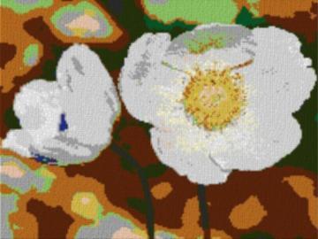 Vorlage für Ministeck Anemone 80x60cm cartoon Style als Volldruck